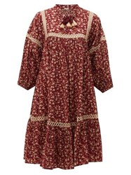 Dodo Bar Or Nell Floral Print Cotton Dress Red Print