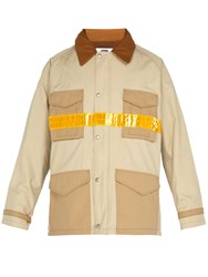 Junya Watanabe Reflective Strip Industrial Jacket Beige