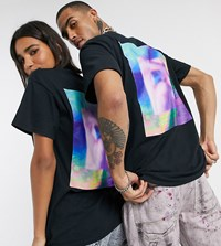 Reclaimed Vintage Unisex T Shirt With Abstract Art Print In Black