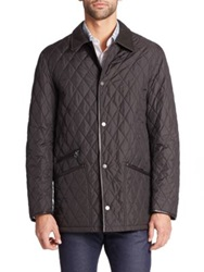 Salvatore Ferragamo Quilted Barn Coat Black