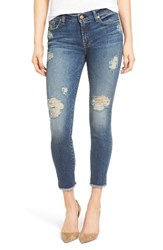 7 For All Mankindr Women's Mankind The High Waist Ankle Skinny Destroyed Jeans