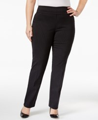 Charter Club Plus Size Dotted Jacquard Tummy Control Pants Only At Macy's Deep Black Combo