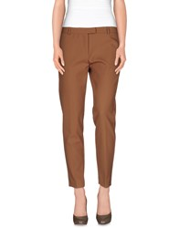 Space Style Concept Trousers Casual Trousers Women Camel