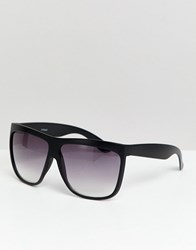 Asos Design Square Sunglasses In Black With Smoke Fade Lens