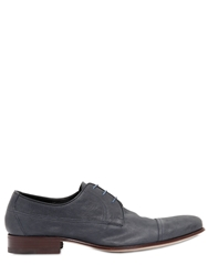A.Testoni Stretch Buffalo Leather Derby Shoes Jeans