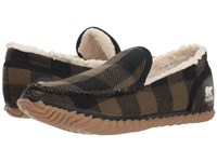 Sorel Dude Moctm Black Textile Tartan Slippers Multi