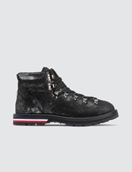 Moncler Leather Hiking Boots Black
