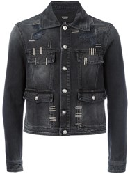 Versus Cropped Denim Jacket Black