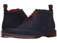 Jeffery West Wing Chukka Navy Suede Men's Boots Blue