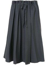 Label Under Construction Pleated Full Skirt Grey