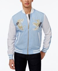 Sean John Men's Bomber Jacket Dark Blue