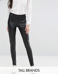 Vero Moda Tall Leather Look Jeans Black
