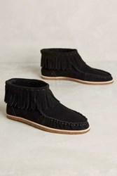 Anthropologie Splendid Bennie Moccasin Booties Black 10 Boots