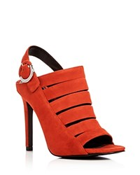 Kendall And Kylie Mia Strappy High Heel Sandals Orange