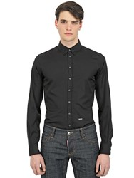 Dsquared Cotton Poplin Stretch Shirt