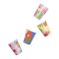 Joules Hollyhock Meadow Garden Cups Set Of 4 Blue Floral