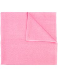 Denis Colomb Classic Scarf Women Silk Cashmere One Size Pink Purple