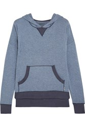 Dkny Stretch Modal Hooded Top Mid Denim