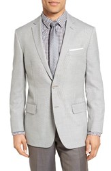 Hart Schaffner Marx Men's Big And Tall Classic Fit Wool Blazer Light Grey