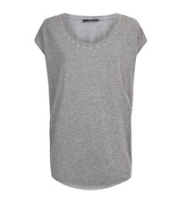 Set Eyelet T Shirt Female Grey