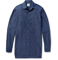 Paul Smith Oversized Triple Stitched Denim Shirt Blue
