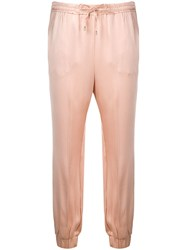 Twin Set Sheen Track Trousers Neutrals