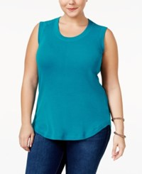 Melissa Mccarthy Seven7 Trendy Plus Size Muscle T Shirt Ocean Turquoise