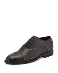 Charles Jourdan Nathan Perforated Leather Oxford Black Gray