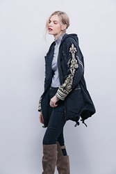 Free People Golden Quills Military Parka