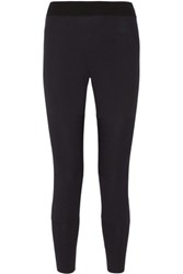 Theory Kassida Ribbed Knit Track Pants Midnight Blue