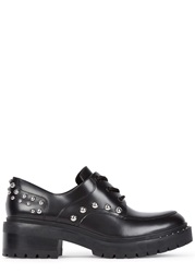Kenzo Bike Black Studded Leather Derby Shoes