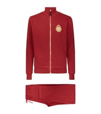 Billionaire Silk Lined Tracksuit Male Red