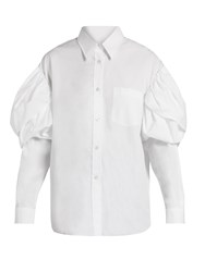 Simone Rocha Puff Shoulder Poplin Shirt White