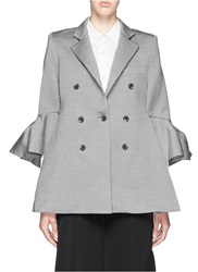 Ellery 'Bromley' Deconstructed Bell Sleeve Blazer Grey