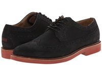 Polo Ralph Lauren Torrington Wingtip Black Polo Black Tumbled Nubuck Calvary Twill Men's Lace Up Wing Tip Shoes
