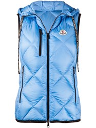 Moncler Logo Patch Quilted Hooded Gilet 60