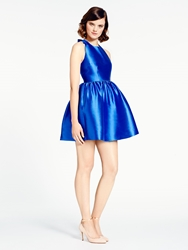 Kate Spade Bow Back Fit And Flare Dress Cosmic Blue