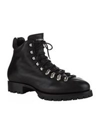 Dsquared Whistler Leather Hiking Boot Black