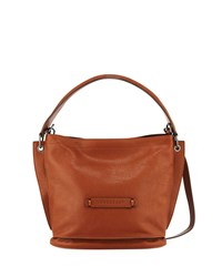 5033f9069 Longchamp 3D Leather Crossbody Hobo Bag Cognac