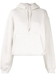 Alexander Wang T By Dense Fleece Hoodie Neutrals