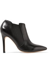 Halston Heritage Wendy Leather Ankle Boots Black