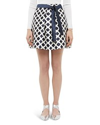 Ted Baker Blushing Rose Geo Mini Skirt Navy