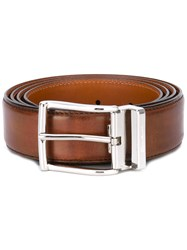 Santoni Classic Belt Men Leather 110 Brown