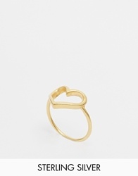 Dogeared Gold Plated Large Open Heart Reminder Ring