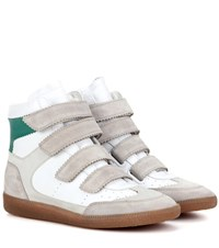Isabel Marant Etoile Bilsy Leather High Top Sneakers Neutrals