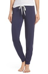 Pj Salvage Stripe Jogger Lounge Pants Navy