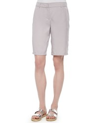 Eileen Fisher Twill Long Shorts Petite Silver