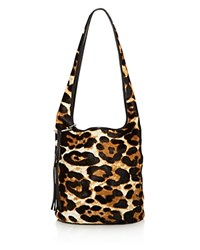 Elizabeth And James Finley Courier Leopard Print Calf Hair Hobo 100 Exclusive Leopard Gold