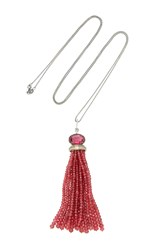 Sharon Khazzam Colin Tassel Necklace Red