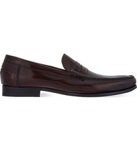 Barker Newington Penny Loafers Wine